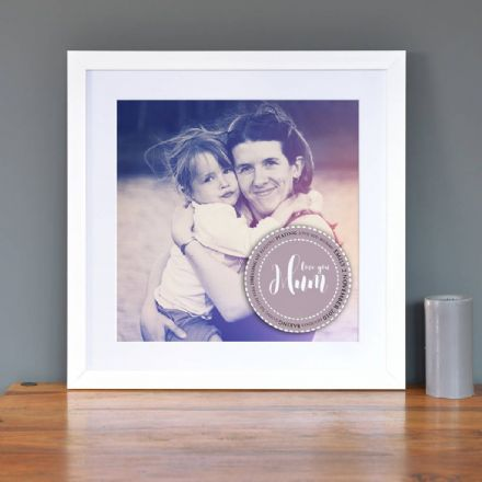 Personalised Photo With Message Art
